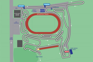 The course for the 2014 British Cycling National Cyclo-Cross Championships
