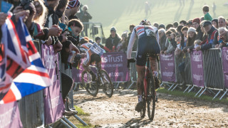 Amira Mellor at the 2014 UCI Cyclo-cross World Cup in Milton Keynes, United Kingdom.