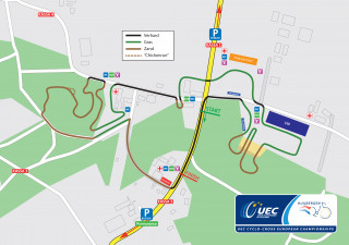 2015 UEC European Cyclo-cross Championships course map
