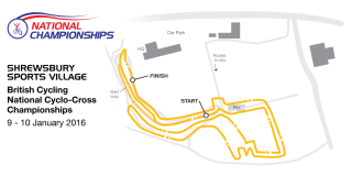 British Cycling National Cyclo-cross Championships 2016 course map