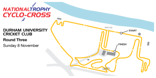 2015/16 British Cycling National Trophy Cyclo-cross Series - Durham course map.