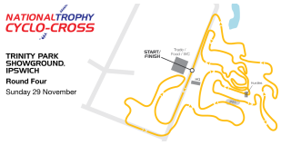 British Cycling National Trophy Cyclo-Cross Series - Round 4 - Ipswich - Course Map
