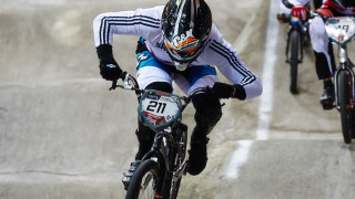 Round one of the 2015 UCI BMX Supercross World Cup in Manchester