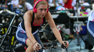 Trott won the first five of the six disciplines in the omnium in Pruszkow