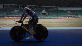Great Britain Cycling Team training in Manchester