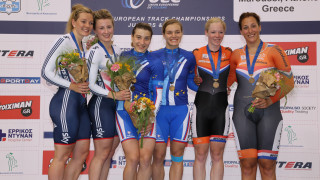 Katy Marchant and Victoria Williamson took silver in the under-23 women's team sprint