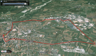 2015 UCI Para-cycling Road World Cup - Maniago - road race course map