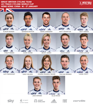 Great Britain Cycling Team for UCI Track Cycling World Cup Hong Kong