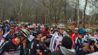 Iain Paton on the start line of the 2016 Swiss Cup