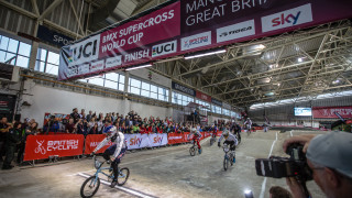 Liam Phillips won a fourth consecutive UCI BMX Supercross World Cup in Manchester as Kyle Evans completed a one-two for the Great Britain Cycling Team.
