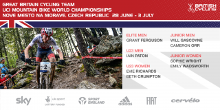 Great Britain Cycling Team for the 2016 UCI Mountain Bike World Championships