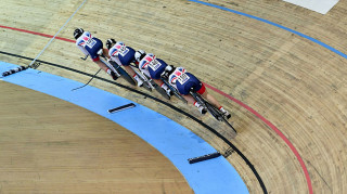 The junior women's team pursuit squad win bronze at the European championships