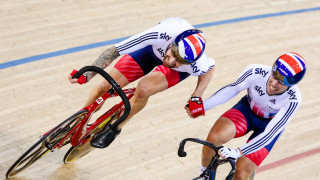 Sir Bradley Wiggins and Mark Cavendish compete in the Madison at the UCI Track Cycling World Championships