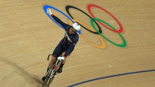 Jason Kenny celebrates gold at the Rio Olympic Games