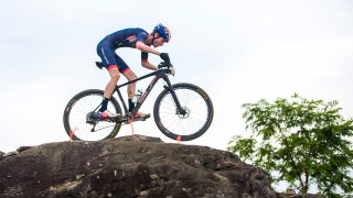 Team GB's Grant Ferguson competes in the mountain bike cross-country at the Rio Olympics