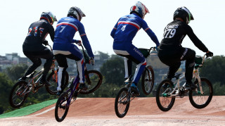 Kyle Evans competes in the BMX at the Rio Olympics