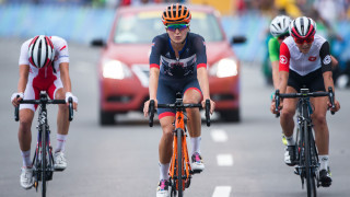 Team GB's Lizzie Armitstead finishes the women's road race at the Rio Olympics