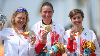 Dame Sarah Storey and Crystal Lane win gold and bronze for ParalympicsGB in Rio
