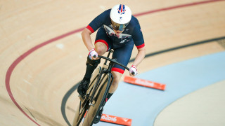 Megan Giglia competes for Great Britain in the 500m time trial at the Rio Paralympics