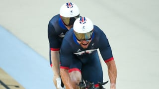Neil Fachie and Pete Mitchell compete for Great Britain in the 500m time trial at the Rio Paralympics