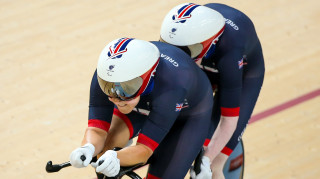 Sophie Thornhill and Helen Scott compete for Great Britain in the 1km time trial at the Paralympic Games