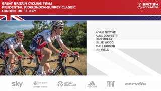 Great Britain Cycling Team for 2016 Prudential RideLondon-Surrey Classic