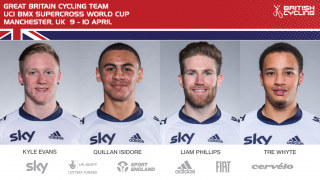 Great Britain Cycling Team for the 2016 UCI BMX Supercross World Cup, Manchester
