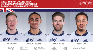 Great Britain Cycling Team for UCI BMX Supercross World, Papendal