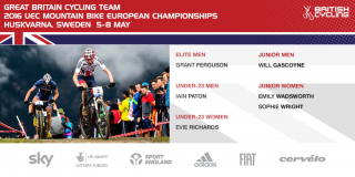 Great Britain Cycling Team for the 2016 UEC Mountain Bike European Championships