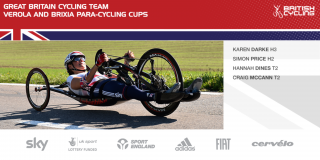 Great Britain Para-cycling Team for the Verola and Brixia Para-cycling Cups