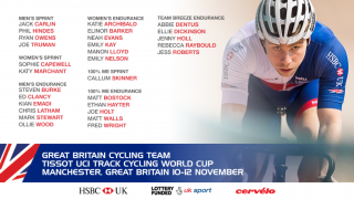 Great Britain Cycling Team for the Tissot UCI Track Cycling World Cup in Manchester