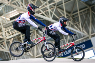 Great Britain Cycling Team BMX riders training in Manchester