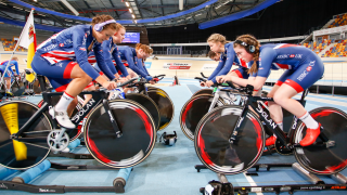 Great Britain Cycling Team Junior Academy riders in Apeldoorn