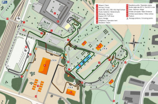 Track profile for the course in Bieles for the 2017 UCI Cyclo-cross World Championships