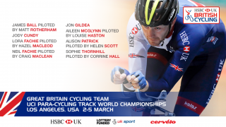 Great Britain Cycling Team for the 2017 UCI Para-cycling Track World Championships
