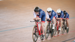 Great Britain Cycling Team's Manon Lloyd, Emily Nelson, Emily Kay and Neah Evans