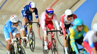 100% me's Matt Bostock finished sixth in the points race at the Tissot UCI Track Cycling World Cup in Poland