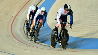 Great Britain Cycling Team's men's team sprint line up of Jack Carlin, Ryan Owens and Joe Truman finished fourth-fastest in the qualifiers