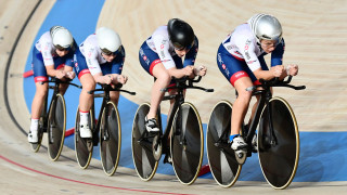 Great Britain Cycling Team's women's team pursuit quartet of Manon Lloyd, Neah Evans, Emily Kay and Emily Nelson qualified third fastest