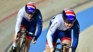 Great Britain Cycling Team's Sophie Capewell and Katy Marchant qualified for round one of the team sprint at the Tissot UCI Track Cycling World Cup in Poland