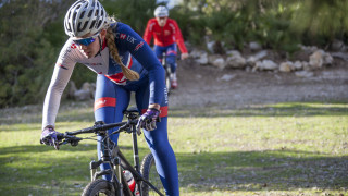 Great Britain Cycling Team's Ella Conolly in training