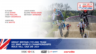 The Great Britain Cycling Team for the 2017 UCI BMX World Championships in Rock Hill, USA