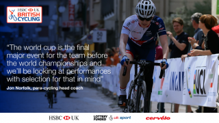 Jon Norfolk quote on UCI Para-cycling Road World Cup