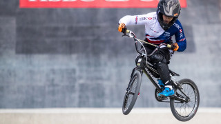 Great Britain Cycling Team's Beth Shriever in training