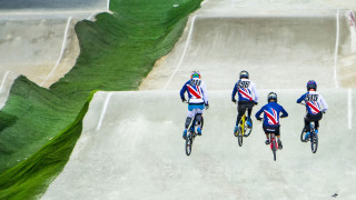Great Britain Cycling Team BMX stars train at the HSBC UK National Cycling Centre