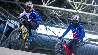 Great Britain Cycling Team's Tre Whyte and Kye Whyte in training