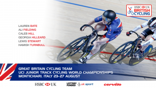 The Great Britain Cycling Team for the 2017 UCI Junior World Championships in Montichiari, Italy
