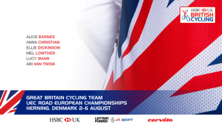 The Great Britain Cycling Team for the 2017 UEC Road European Championships