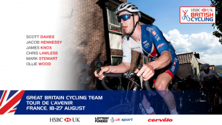 Great Britain Cycling Team for the 2017 Tour de l'Avenir
