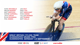 Great Britain Cycling Team for the Dudenhofen Grand Prix